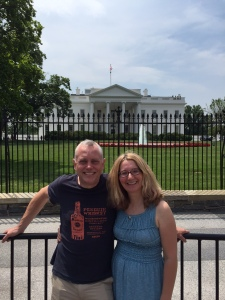 Hubby and I outside Barry's House