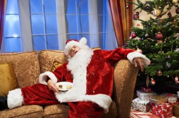 Father-christmas-is-sleeping-on-sofa