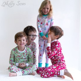 kids in Xmas Pajamas